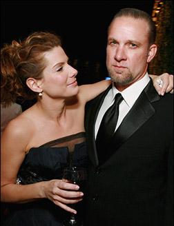 Sandra Bullock with husband Jesse James