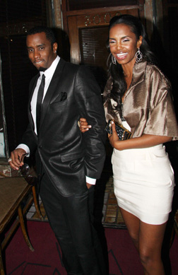 P Diddy and Kim Porter