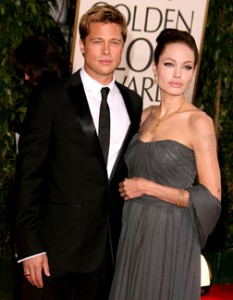 Brad and Angelina at the Golden Globes