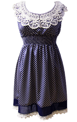 Darimeya Navy Polkadot Dress £60