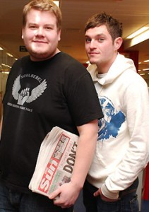 Mathew with James Corden