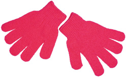 Pink Exfoliating Gloves