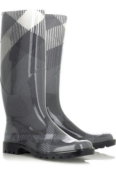 Burberry, exploded check wellington boots £113