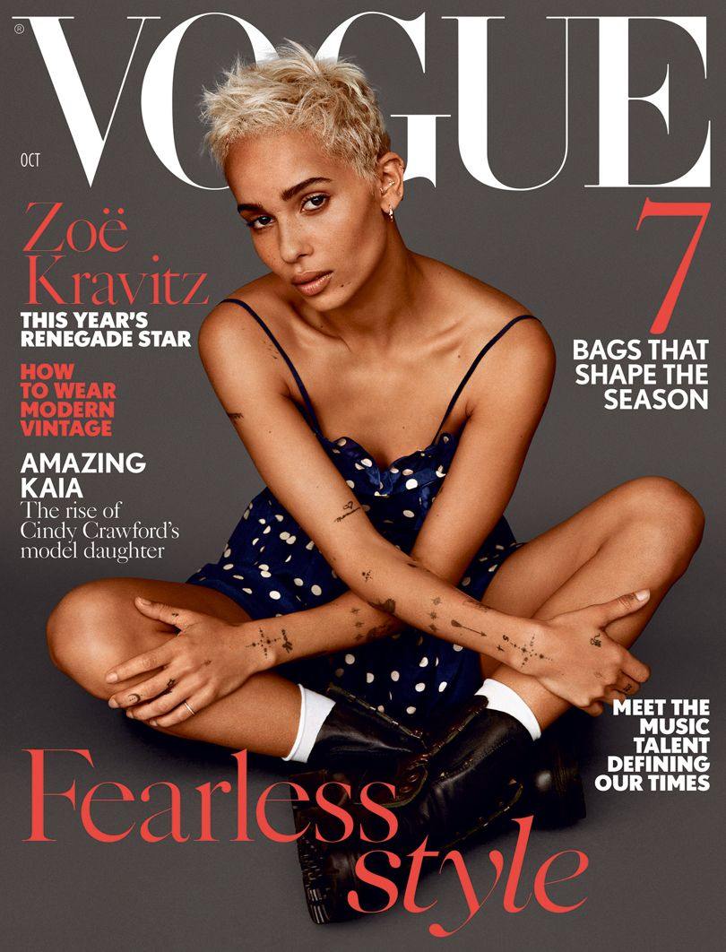 ZOE KRAVITZ OCTOBER VOGUE COVER