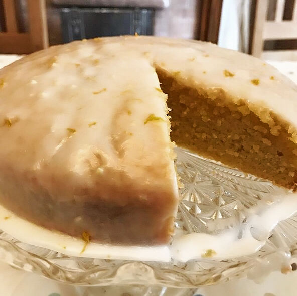 ORANGE & LEMON DRIZZLE CAKE USING MICROPLANE
