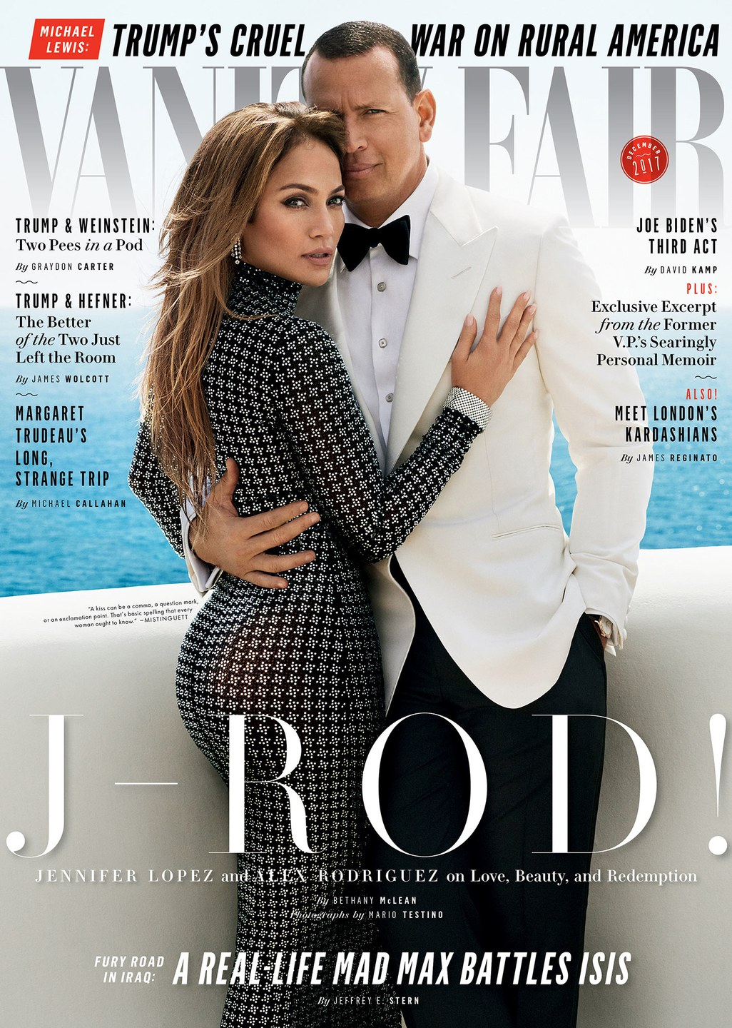 JLO & ALEX RODRIGUEZ VANITY FAIR COVER